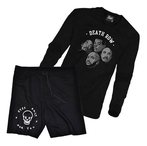 kit blusa frio moletom bermuda short roupa masculina estilo