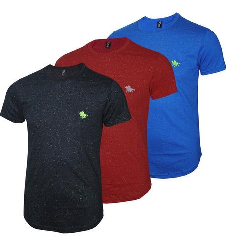 kit blusa masculina malha botonê polo rg518