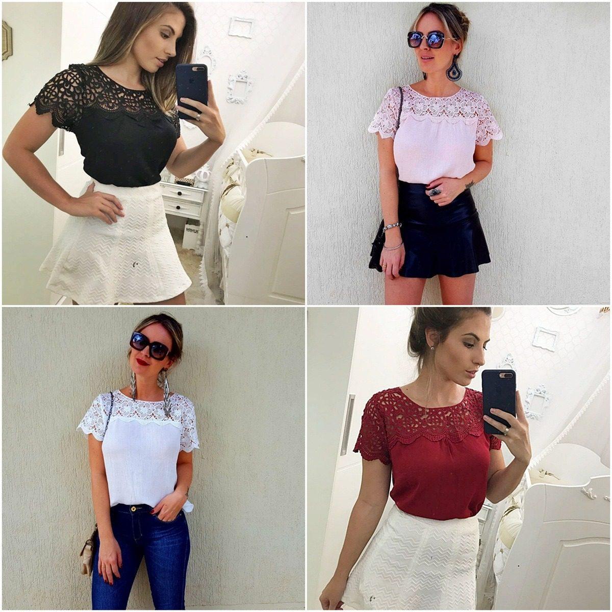 b05b63f49b39 kit blusas femininas renda atacado revenda 13 pçs barato 821. Carregando  zoom.