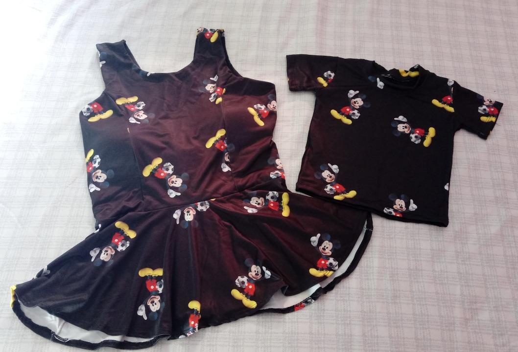 d67607d4d152d3 Kit Blusas Mãe E Filho Mickey (tal Mae Tal Filho) G / 1 Ano