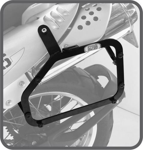 kit bmw g650gs suporte baú lateral bagageiro scam big trail