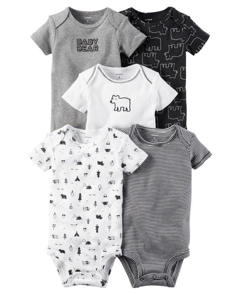 6fe2cfec3c Kit Body 5 Peças Carters Baby Bear - R$ 110,11 em Mercado Livre