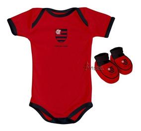 585e3f61c7c052 Kit Body + Pantufa Recèm Nascido Do Flamengo Baby - 033a