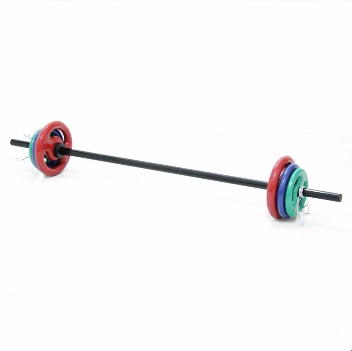 ffffec51b4 Kit Body Pump Barra Preta + 12 Kg Anilhas Emborrachadas - R  219