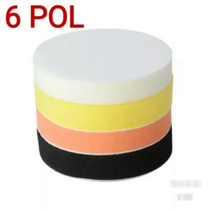 Kit Boina De Espuma Lisa 4 Peças Polimento 6 Polegadas - R  49 68b2efabdae