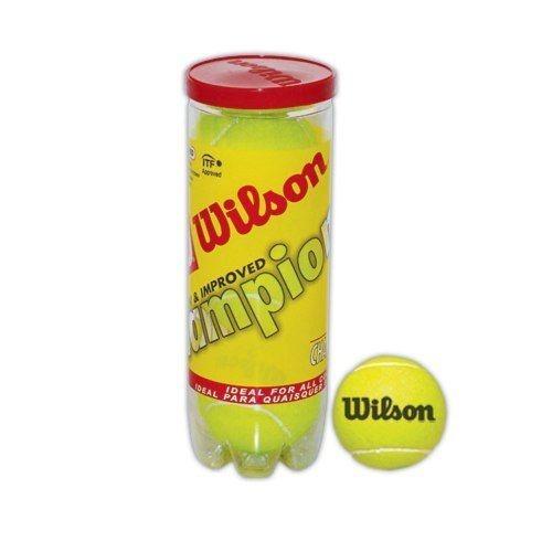 27cb19b94 Kit Bola De Tenis Wilson Championship - Tubo 3 Unid - R  54