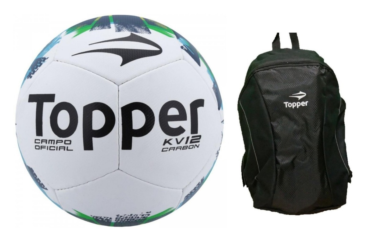 bd129f8001fe3 kit bola fut campo topper kv ii + mochila topper. Carregando zoom.