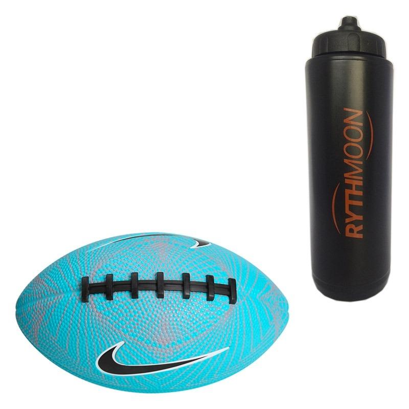 9c63fcd58 kit bola nike futebol americano 500 mini 4.0 azul + squeeze. Carregando  zoom.