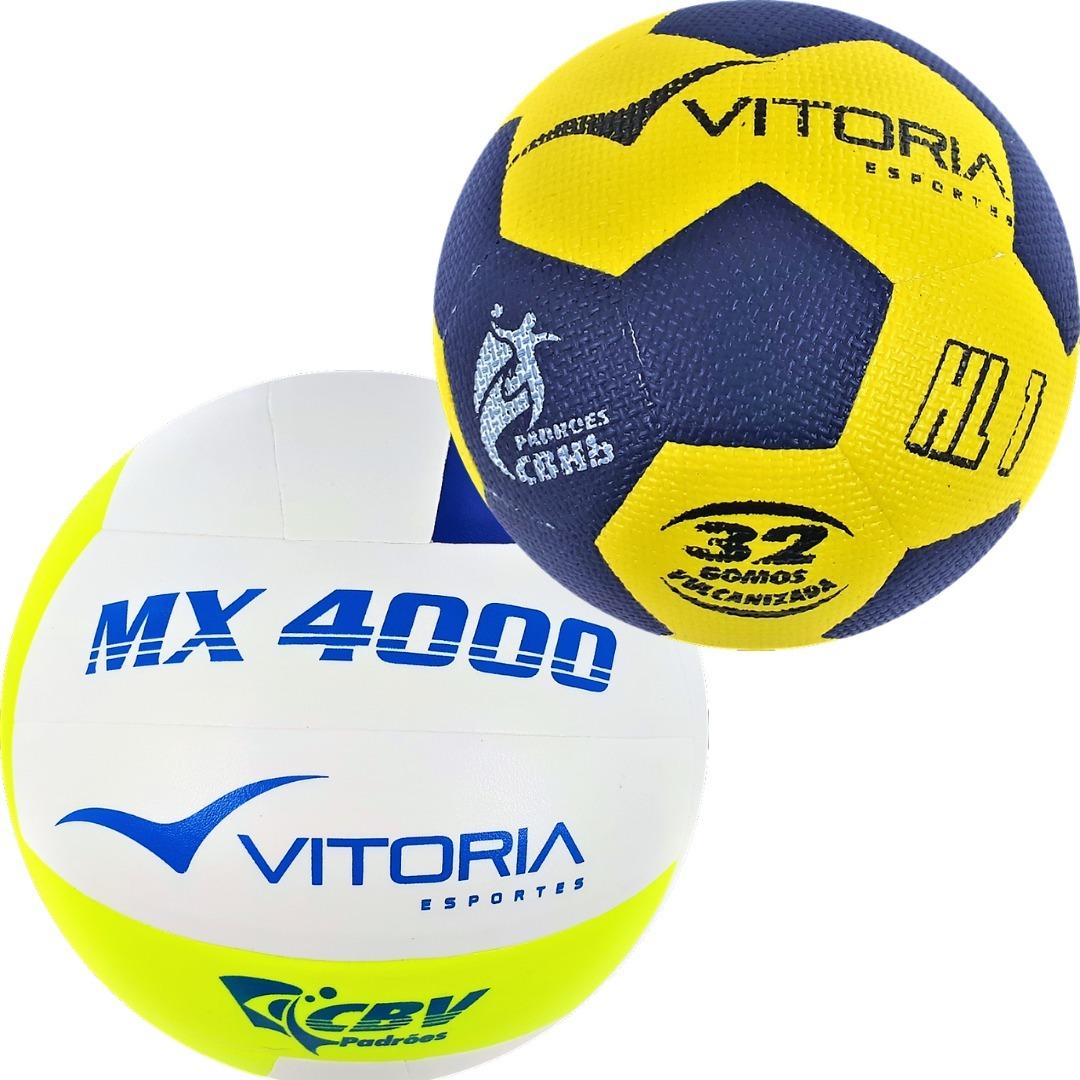 kit bola volei oficial vitoria mx4000 + handebol h1l + brind. Carregando  zoom. e563fc5557918