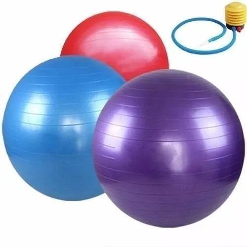 Kit Bola Yoga Suiça 65cm + Balance Cushion Disco Inflável - R  73 d1306fe5699a0