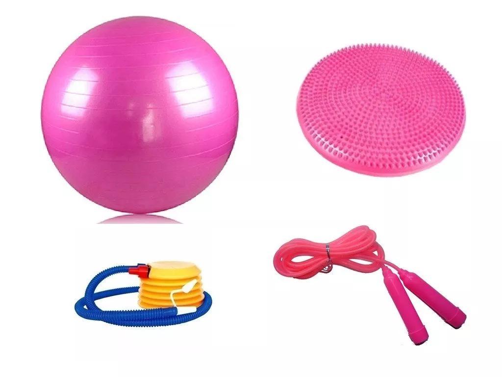 54d78d18c5 kit bola yoga suiça 65cm + balance disco infláve + corda pul. Carregando  zoom.