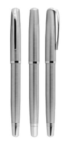 kit bolígrafos personalizados acero inoxidable, estuche