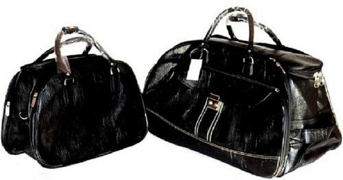 kit bolsa 2 peças de viagem preta ou marrom