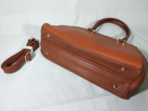 kit bolsa + alça transversal couro sintético