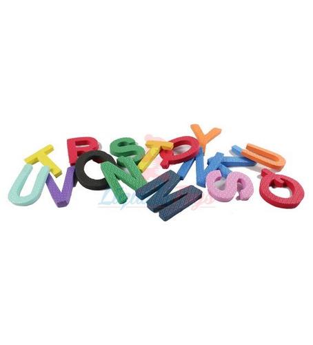 kit bolsa alfabeto eva 52 peças colorido 35969 - eva kids