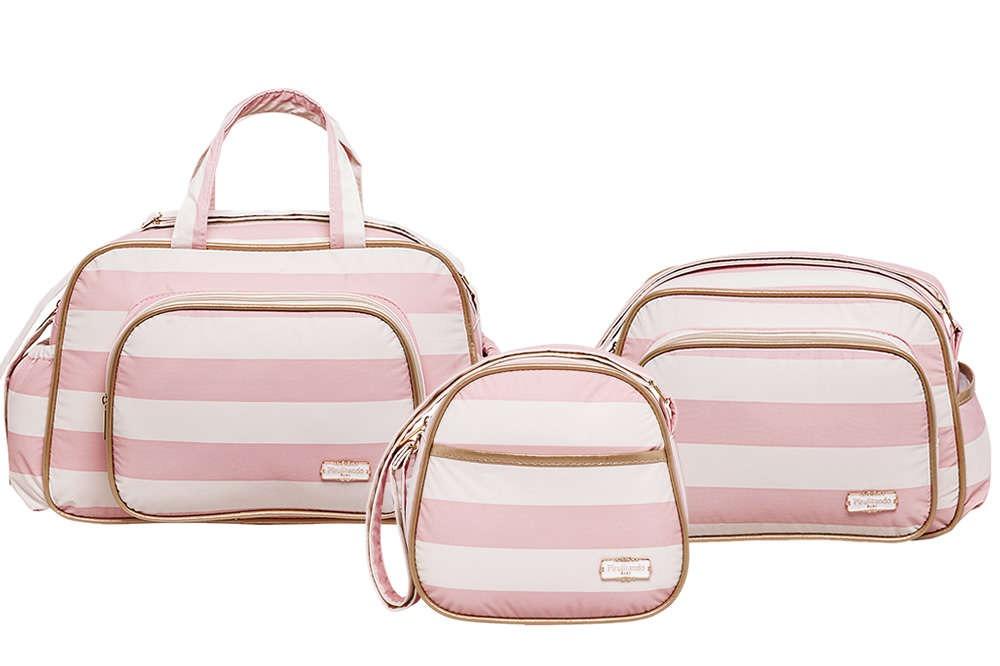82f0d8a579 kit bolsa bebê - bolsa maternidade menina rosa pirulitando. Carregando zoom.