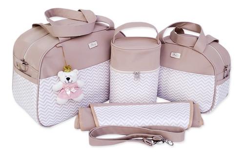 kit bolsa bebê maternidade menino/menina gestante muito luxo