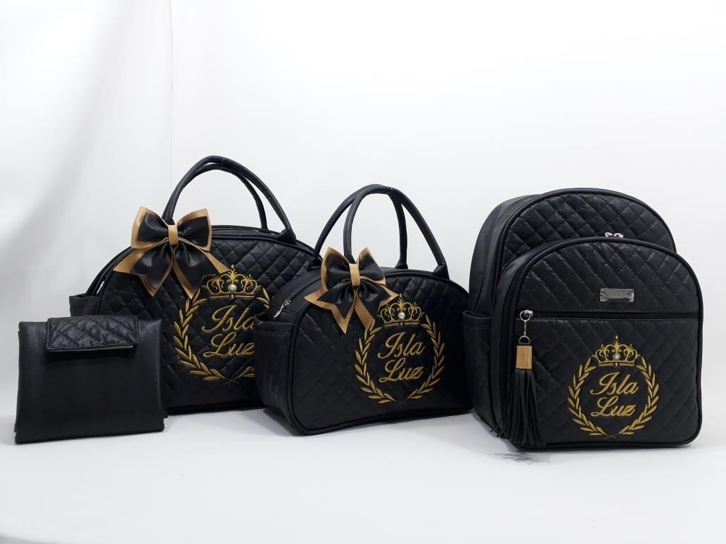kit bolsa bebe c  mochila maternidade personalizado c  4 pçs. Carregando  zoom. 4901dfccf45
