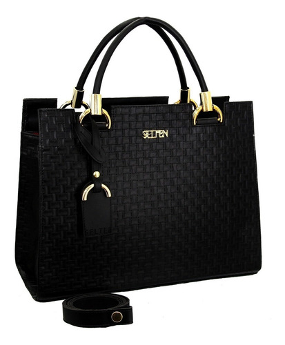 kit bolsa + carteira feminina alça removível kitcas