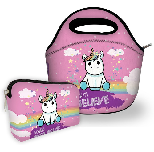 kit bolsa com 1 necessaire isoprene always believe
