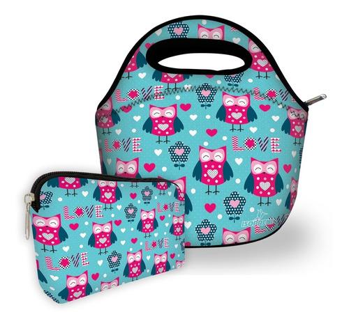 kit bolsa com 1 necessaire isoprene corijinhas apaixonadas