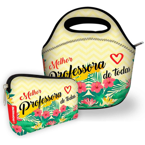 kit bolsa com 1 necessaire isoprene melhor professora