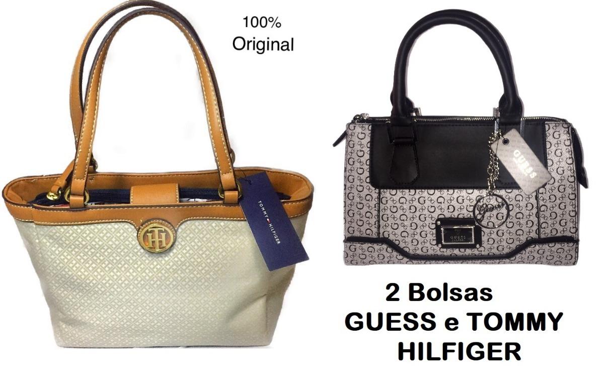 81416a21e kit bolsa couro guess e tommy hilfiger original promoçâo. Carregando zoom.