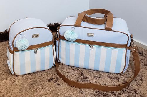 kit bolsa de bebê maternidade com mochila luxo promoção