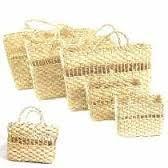 kit bolsa de palha de milho 6 unidades 40x13x30