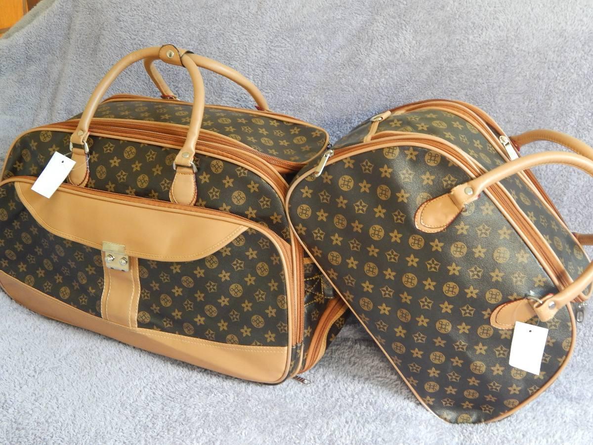 Bolsa De Viagem De Mao Feminina : Kit bolsa de viagem feminina com rodinha importada r
