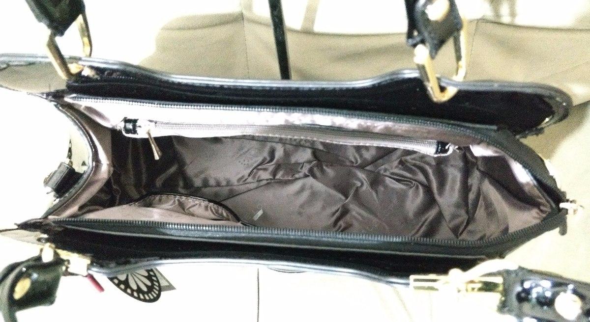 5e3014e88a Kit Bolsa E Carteira Verniz Preta Lace Lore - R$ 219,00 em Mercado Livre