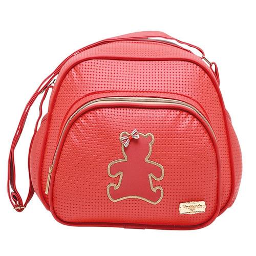 kit bolsa e macacão maternidade 4 peças menina