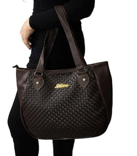 kit bolsa feminina bolsa saco mochila carteira - 4 peças top