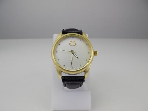 kit bolsa feminina + carteira e relógio dourado atacado top