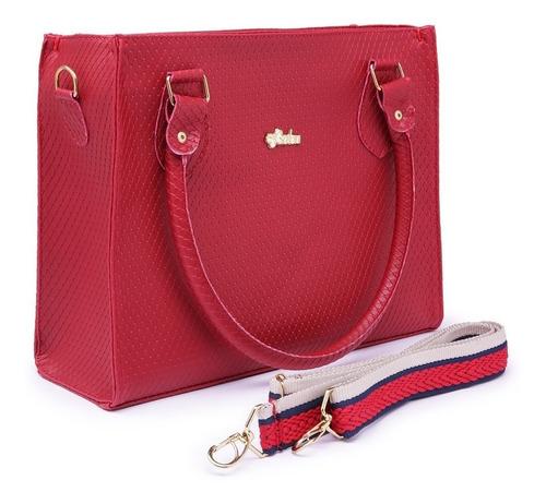 kit bolsa feminina com 3 peças quadrada bau e carteira