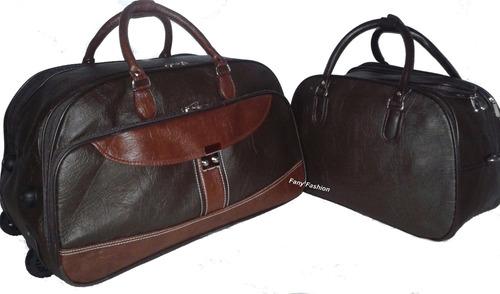 kit bolsa feminina e mala grande viagem c rodinhas importada