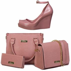 bf452c114 Bolsa Em Couro Amarelle Leather Sapatos Femininos - Calçados, Roupas ...