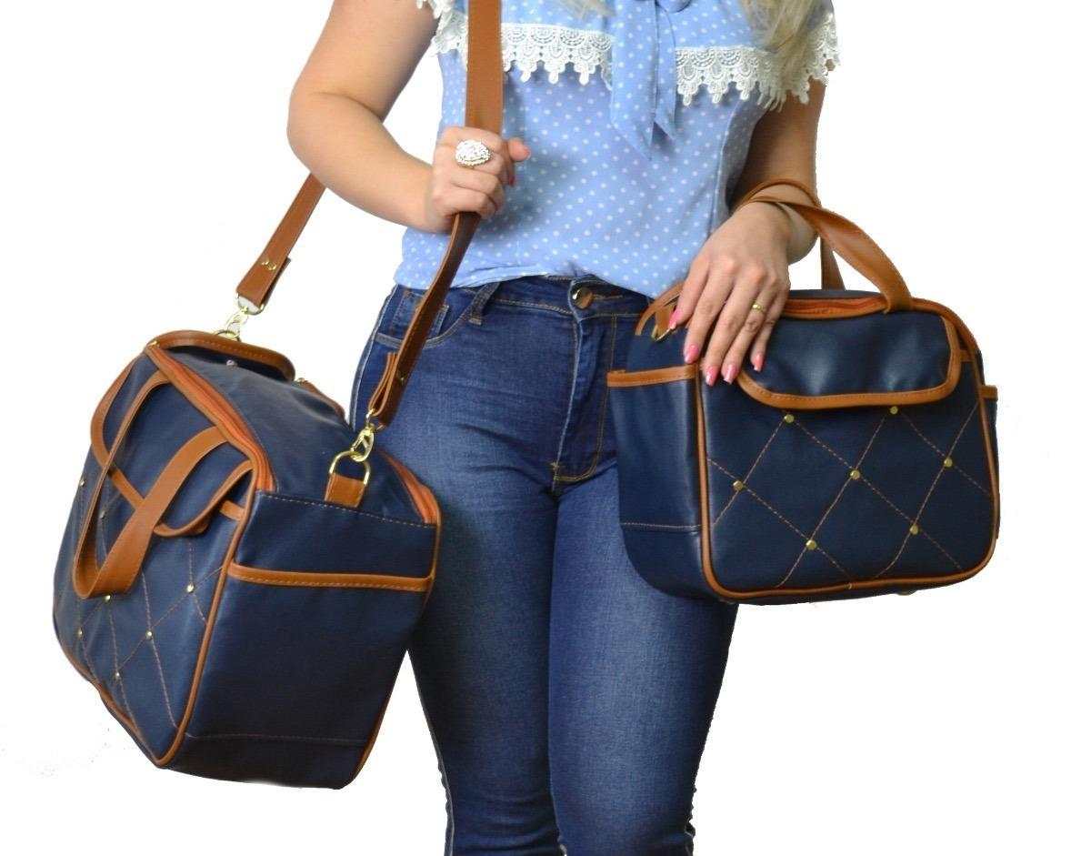 90d52c7d3 Kit Bolsa Maternidade Azul Marinho Luxo + 02 Brindes - R$ 149,00 em ...