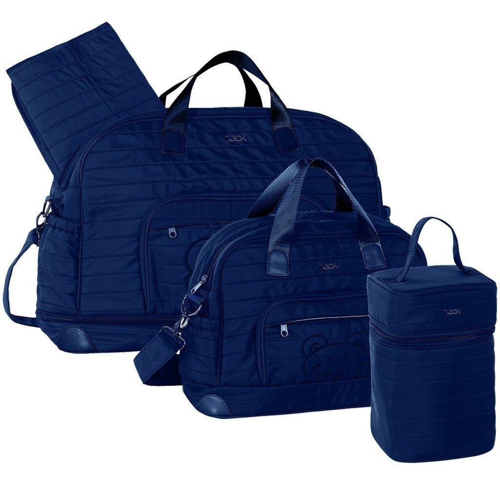 kit bolsa maternidade azul marinho - tigor t. tigre. Carregando zoom. 3c250b100d5