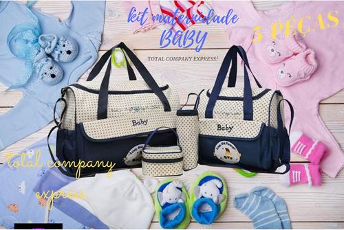 kit bolsa maternidade bebe menino e menina peças super luxo