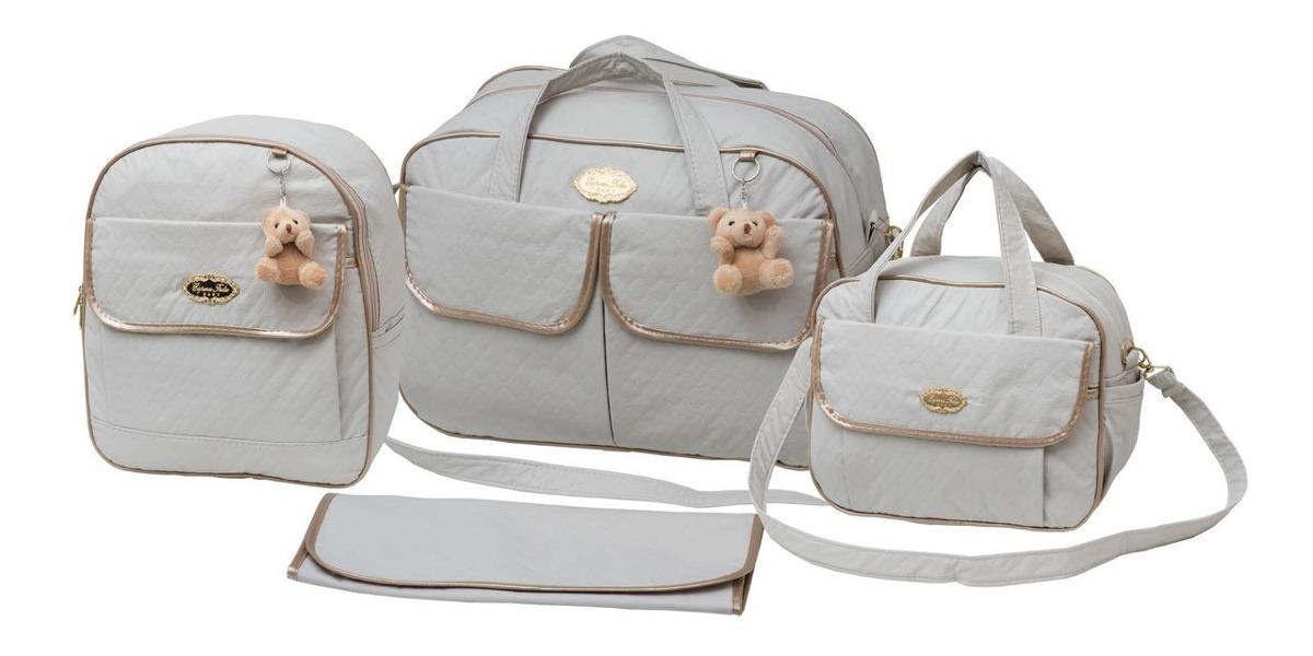 9c27dd2ab kit bolsa maternidade bege com mochila e trocador 40ol08. Carregando zoom.