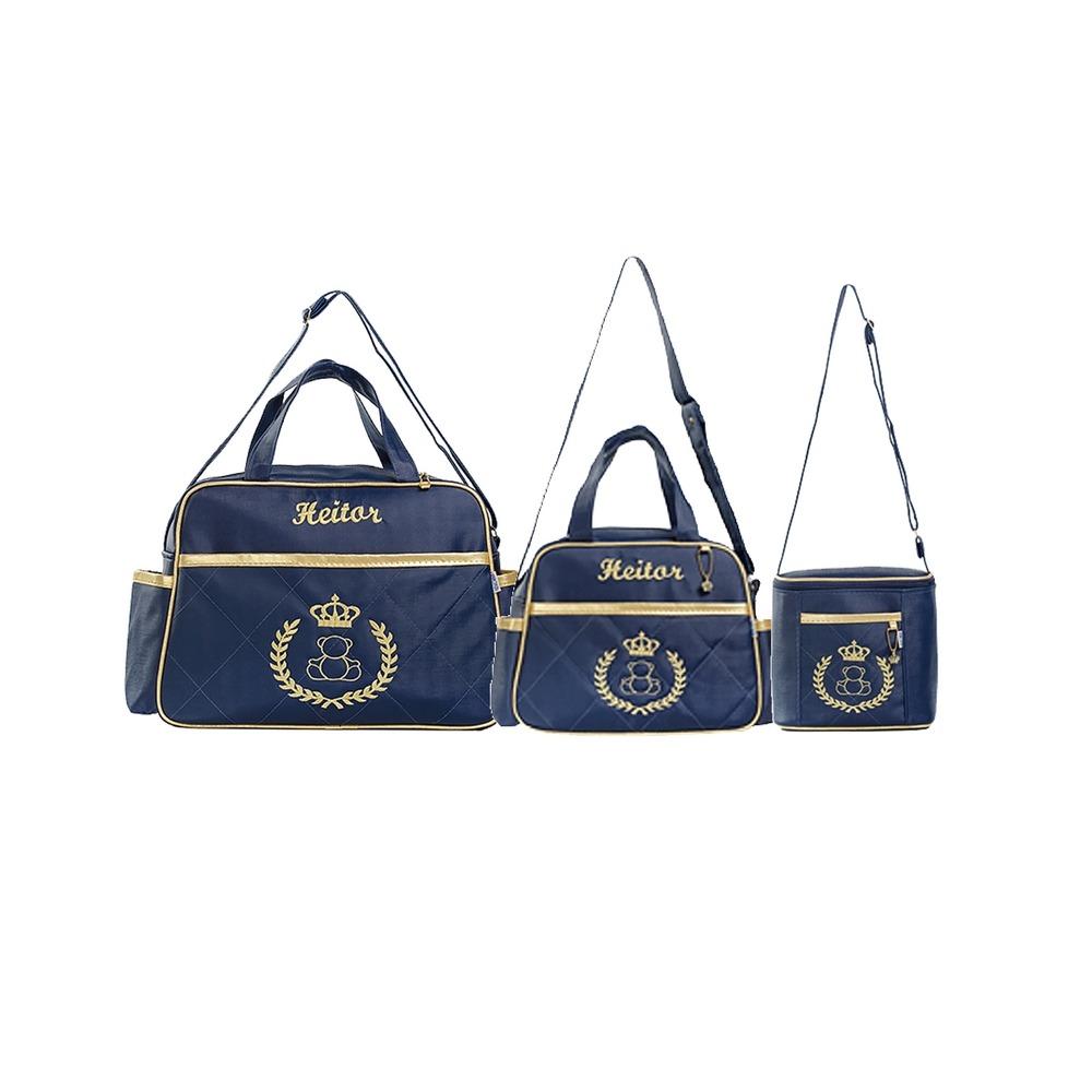 8c54eeb02 kit bolsa maternidade bolsa bebe luxo personalizadas 5pçs. Carregando zoom.