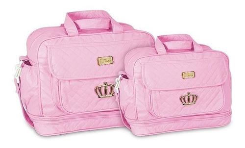 kit bolsa maternidade djon 2 pç mega promoção 7 opções cores