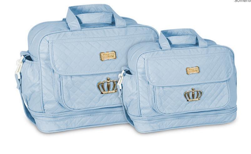 4da985a8fc kit bolsa maternidade luxo + frasqueira - opções de cores. Carregando zoom.