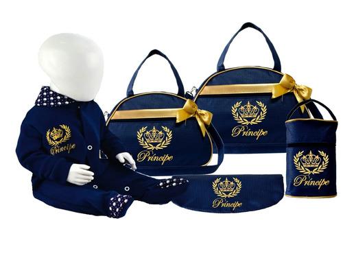 kit bolsa maternidade príncipe macacão brinde # promoção