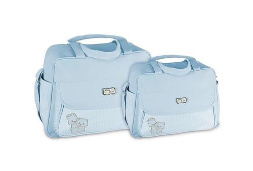 kit bolsa maternidade saída bebe menino 1314p b azul cla