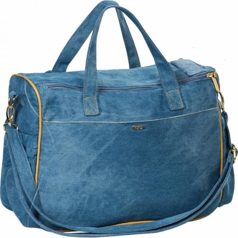 kit bolsa maternidade tigor t. tigre jeans azul grande+frasq. Carregando  zoom. 6a42875dff4
