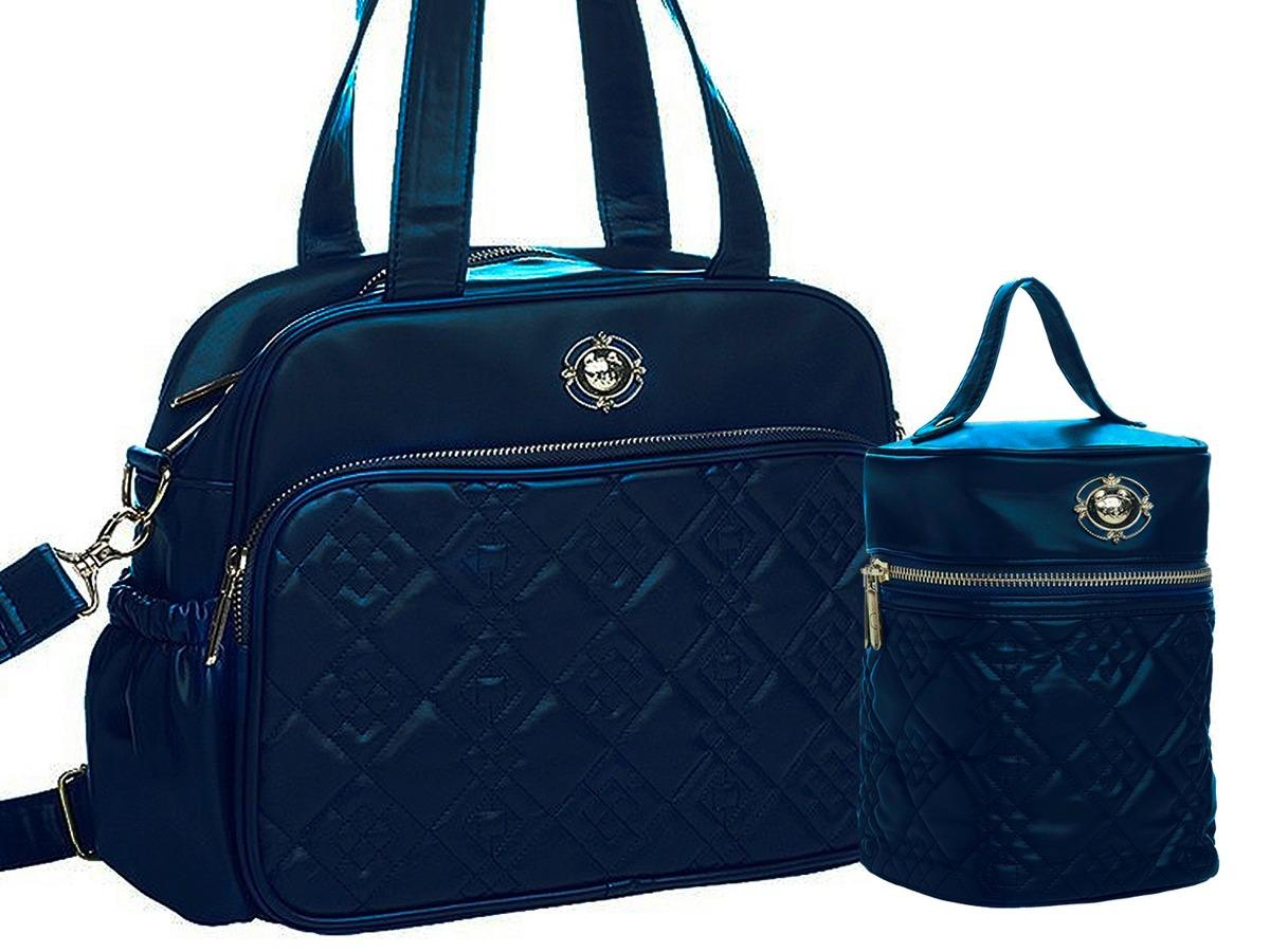 58da64d0d kit bolsa maternidade tigor t.tigre peq e frasq azul marinho. Carregando  zoom.
