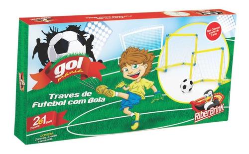 kit - bolsa menina 80 pçs,  trave chute a gol - 02 baldinhos