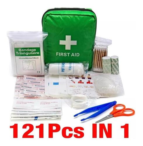 kit bolsa primeiros socorros 121pc sobrevivência firstaidkit